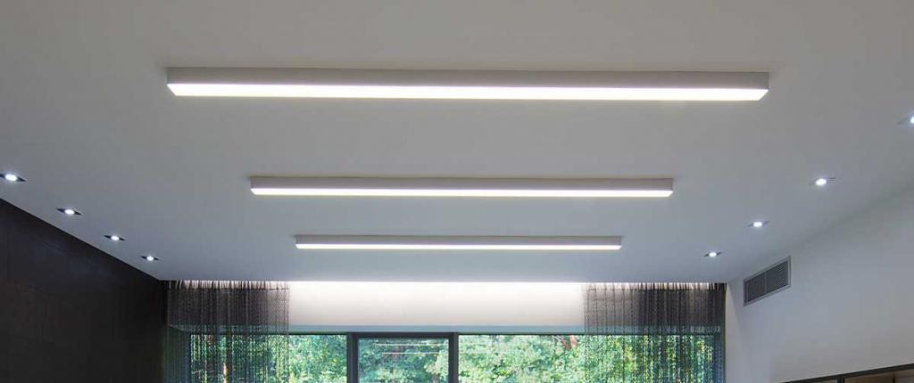 Накладной линейный модульный светильник